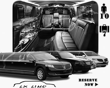 Stretch Limo airport shuttle in Quebec