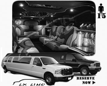 Lincoln Excursion SUV Limo for hire in Quebec, QC